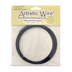 Artistic Wire, 14 Gauge (1.6 mm), Black, 25 ft (7.6 m)