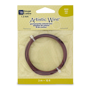 Artistic Wire, 16 Gauge (1.3 mm), Brown, 10 ft (3.1 m)
