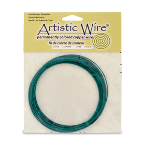 Artistic Wire, 16 Gauge (1.3 mm), Green, 25 ft (7.6 m)