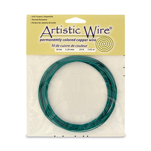 Artistic Wire, 16 Gauge (1.3 mm), Kelly Green, 25 ft (7.6 m)