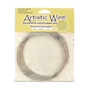 Artistic Wire, 16 Gauge (1.3 mm), Tinned Copper, 25 ft (7.6 m)
