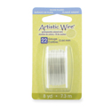 Artistic Wire, 22 Gauge (.64 mm), Silver Plated, White, 8 yd (7.3 m)