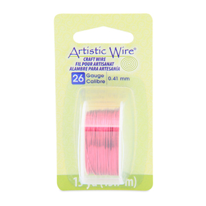 Artistic Wire, 26 Gauge (.41 mm), Magenta, 15 yd (13.7 m)