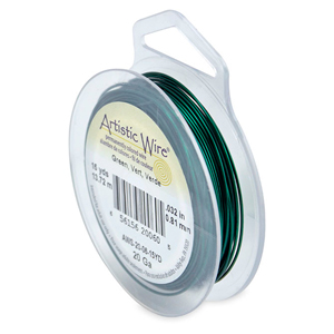Artistic Wire, 20 Gauge (.81 mm), Green, 15 yd (13.7 m)