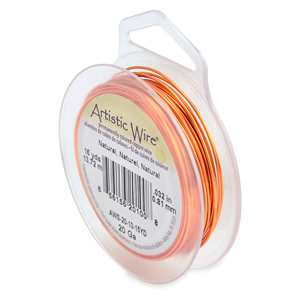 Artistic Wire, 20 Gauge (.81 mm), Natural, 15 yd (13.7 m)
