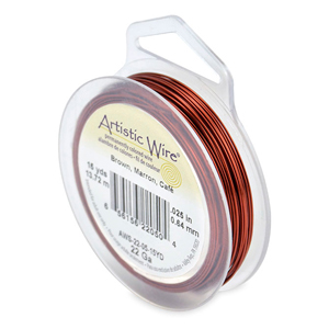 Artistic Wire, 22 Gauge (.64 mm), Brown, 15 yd (13.7 m)