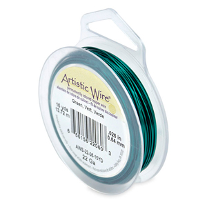 Artistic Wire, 22 Gauge (.64 mm), Green, 15 yd (13.7 m)