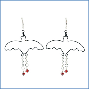 Bat Blood Earrings
