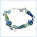 Cone Bracelet in Blues & Greens
