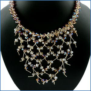 Crystal Net Necklace