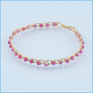 Pink and Gold 3D Bracelet Jig Bangle