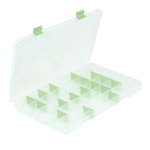 Bead Box,13.75 x 8.5 x 1.38 in (35 x 21.6 x 3.5 cm), 17 Moveable Dividers