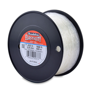 Elasticity Stretch Cord, 0.8 mm (.032 in), Clear, 500 m (1640 ft)