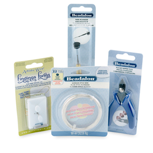 Earwire Kit with Swoop Earwire Findings Form, Wire Rounder, Wire Cutter and 22GA German Style Wire