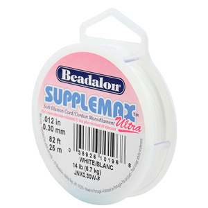 Supplemax Ultra, 0.30 mm (.012 in), White, 25 m (132 ft)