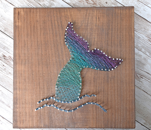 Mermaid Tail - Wire String Art