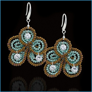 Sparkle Flower Earrings