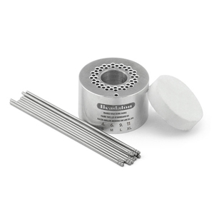 Ring Weaver Tool, by Kleshna Handel, 1 Aluminum Base, 18 Pins, 1 Foam Holder, Ring Size 4 (Small), Ring Size 6 (Medium), Ring Size 9 (Large), Ring Size 11 (Extra Large)