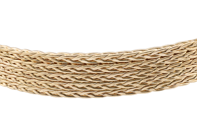 Artistic Wire, 14 Gauge (1.6 x 1.6 mm), Braid, Square, Tarnish Resistant Brass, 2.5 ft (.76 m)