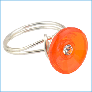 Tangerine Button Ring